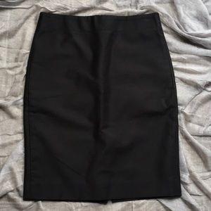 J. CREW Black Pencil-Skirt